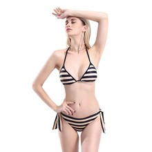 Bathing Low Waist Swimwear Women Top Push Up Bikini Set Women Sexy Trapless Swimsuit Stripe Two Piece Beach Wear Suit For Female women bikini set split swimsuit beach wear push up low waist swimwear bathing suit sexy women summer suits