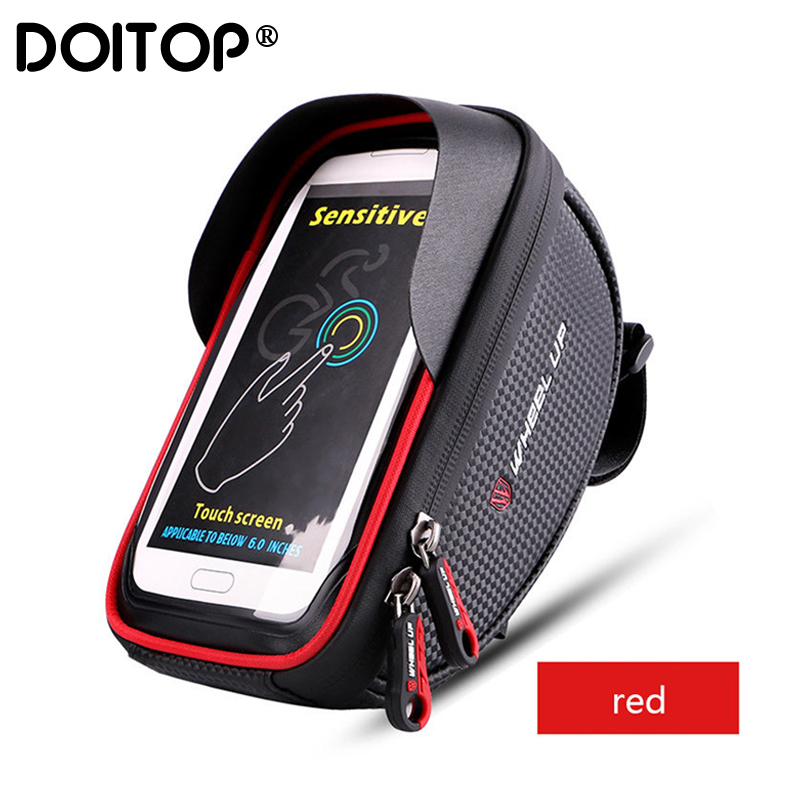 DOITOP 6.0 Inch Bike Bicycle Waterproof Cell Phone Bag Holder Motorcycle Mount For Samsung Galaxy S8 Plus/iPhone 7 Plus/LG V20