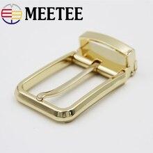Meetee 35mm Mens belt Buckle Metal Pin Head Tail Clip Waist Adjustable Belt DIY Clothing Accessory Sewing