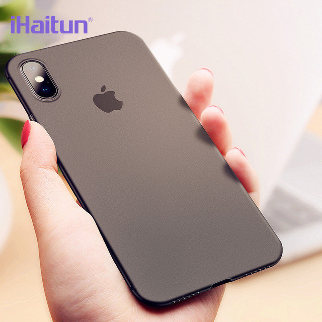 half off a6749 11ac9 US $3.99 40% OFF|iHaitun Luxury Phone Case For iPhone XS MAX XR Cases Ultra  Thin PC Slim Transparent Back Cover Case For iPhone X 10 Phone Cover-in ...