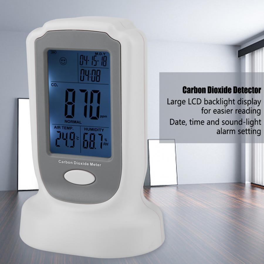 GM8802 Carbon Dioxide Monitor Tool Handheld Carbon Dioxide Detector CO2 Monitoring Measuring Tool EU Plug AC100
