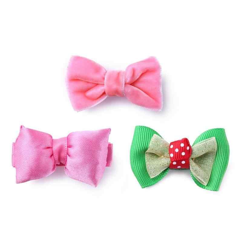 Cute Girls Bowknot Velvet Barrette Headware Mermaid Horse Rainbow Baby Headwear Clothing Accessories Hair Pin for Girls