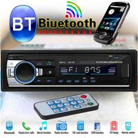 Car Radio Bluetooth Stereo Audio In Dash FM MP3 Radio Player with AUX IN SD USB DC 12V MP3WMA Car Radio Player