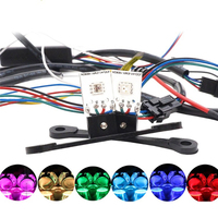 Universal 2Pcs LED Devil Eyes Bluetooth RGB Colorful App Control Demon Eye For Headlight Projector Lens Retrofit Car Styling
