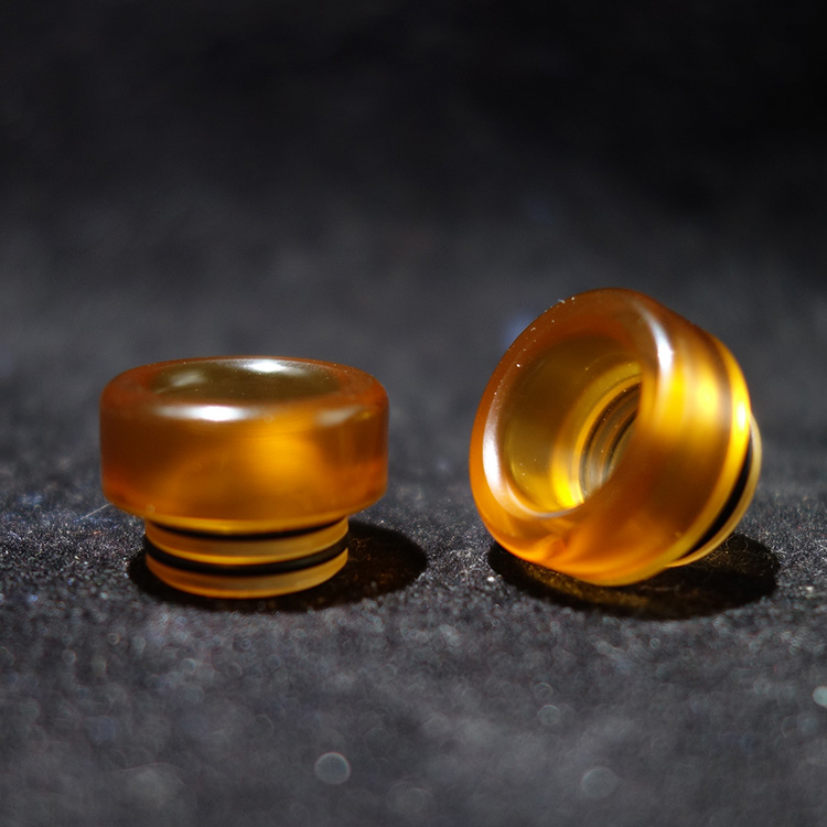 Polished PEI Ultem 810 Drip Tip Wide Bore Big Cloud Yellow Short Mouthpiece For Manta Rta Venus Rda Vape Tank Accessory
