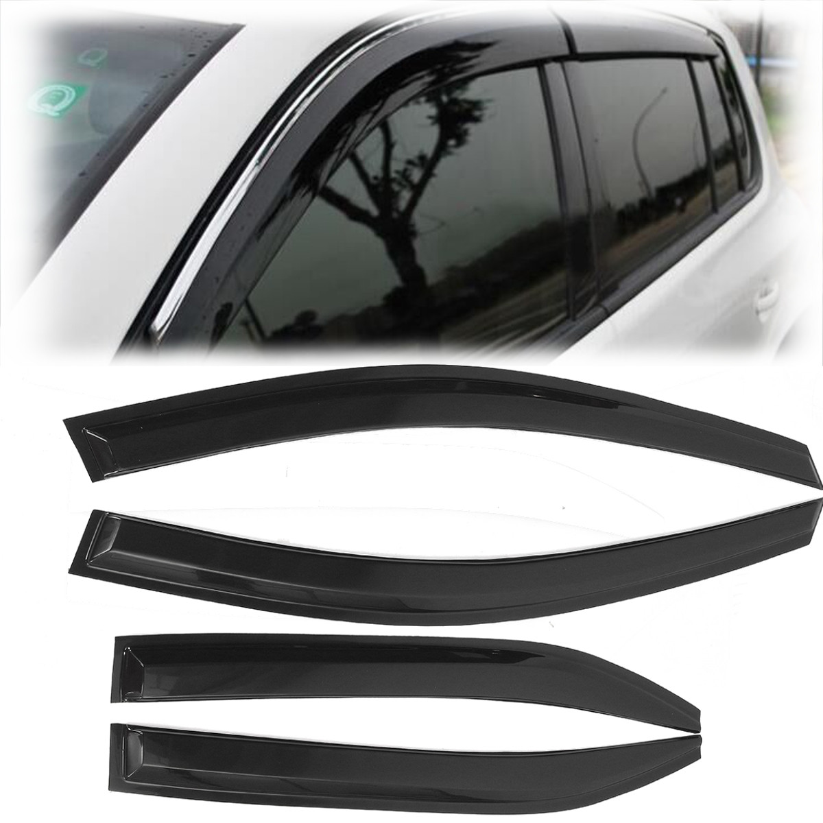 Car Window Visor Rain Guard Sun Visor Vent Shade Wind Deflector For Toyota Camry 2007 2008 2009 2010 2011