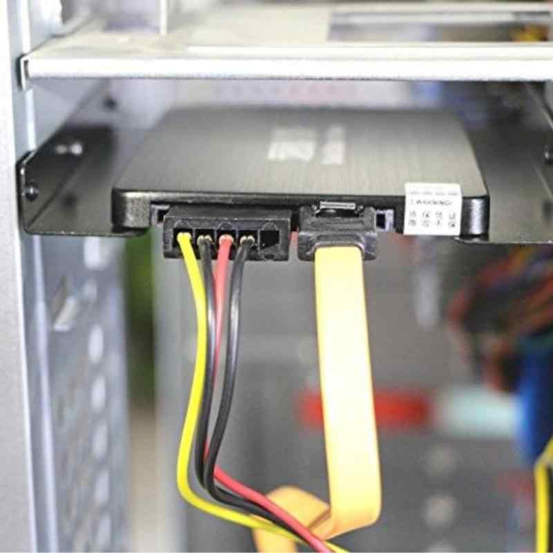 2.5 بوصة SSD HDD إلى 3.5 بوصة معدن تصاعد محول قوس قفص الاتهام قرص صلب حامل لمعيار الكمبيوتر القرص الصلب الضميمة