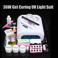 Full Manicure Set Lamp Nail Kit 36w Uv Led Lamp For Nail Art Sets Uv Gel Nail Polish Set Tools For Manicure Nail Art Decorations
