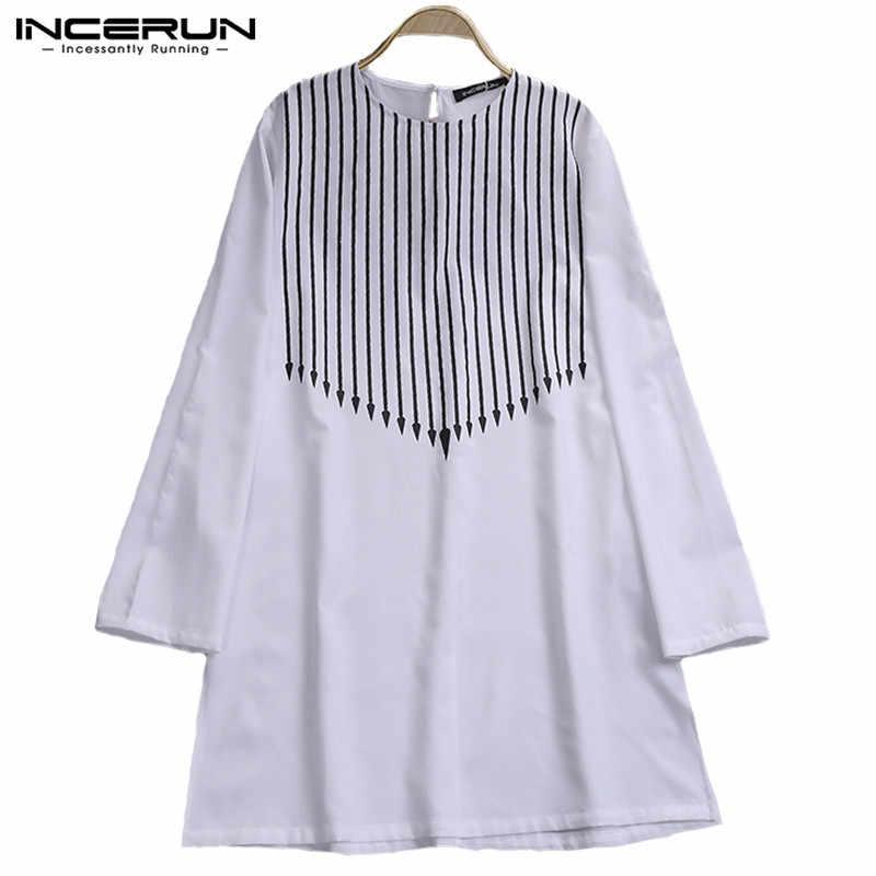 ... 2019 NEW Men African Dashiki Dress Shirt Striped Print Shirt Long Sleeve  White Shirts Africa Clothing ... f2b75c2a2