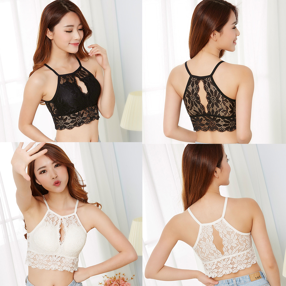 Fashion Women Sexy Lace Full Cup Backless Bra Women's Intimates Lingerie Black/White Underwear