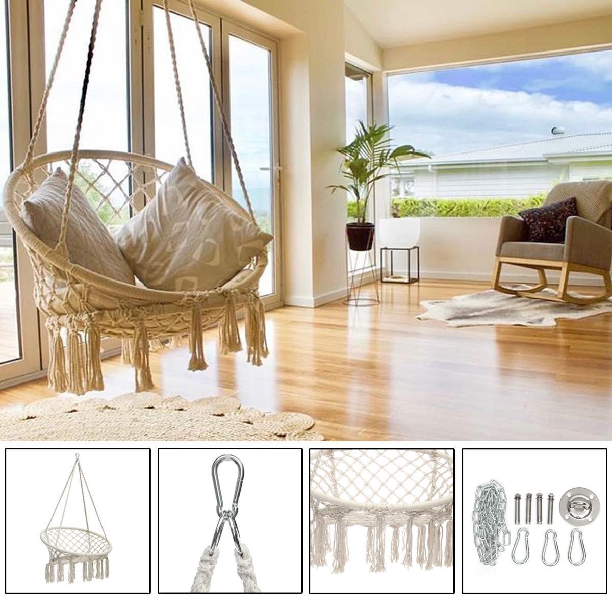Nordic Style Round Hammock Furniture Outdoor Indoor