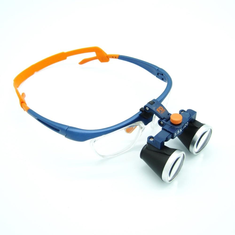 все цены на High Quality Ultra-Light 3.5X Medical magnifying glass Surgical loupes Dental Loupes medical loupes head loupes FD-503-G онлайн