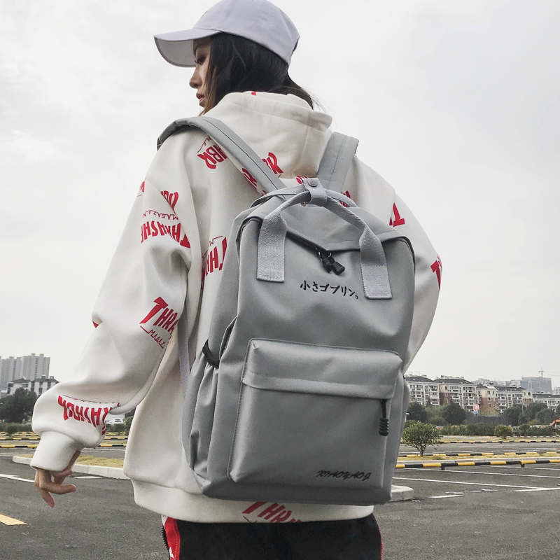 Woman Both Shoulders Bags Teenagers Fashion Backpack Bag High Middle School Students Designers Bag School Wind Bookbags in Backpacks from Luggage Bags