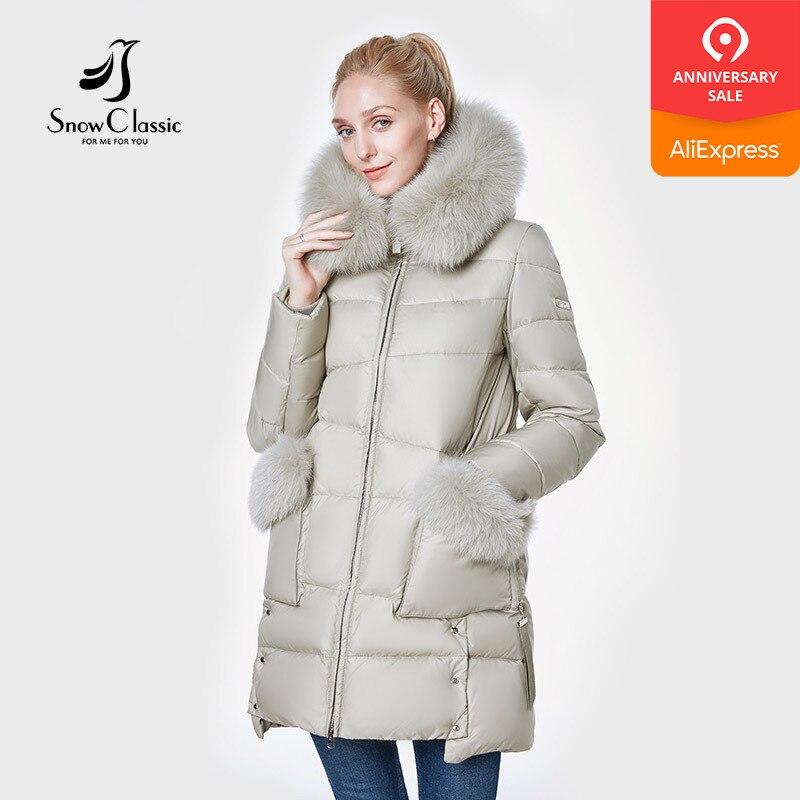 Cheap Price Snowclassic 2018 New Jacket Women Camperas Mujer Abrigo Invierno Coat Women Park Fox Hair Hat Pocket Thick Side Design