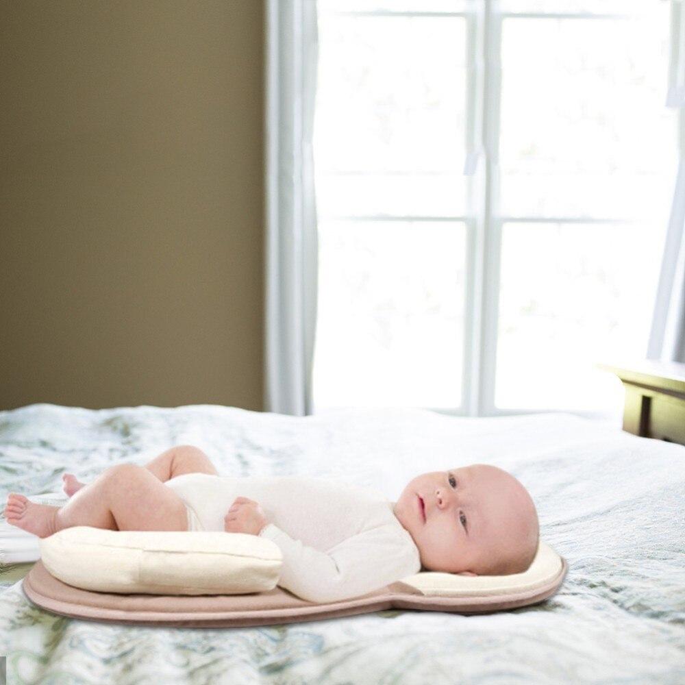 Image 2 - Голова правильного ребенка новорожденного от переворачивания матрас, растягивается Подушка детская подушка для сна позиционирование путь хлопок подушка матрас on AliExpress