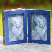 Zakka Groceries Frame Make Old Wood Ornaments Photo Frames Blinds Decoration Frame European Stylle Photo Frames