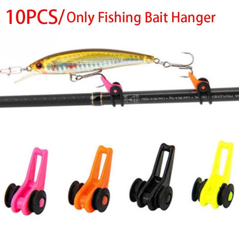 10pcs/set Bait Lure Holder Hook Keeper Hanger Rod Plastic Fishing Tackle Fishing Bait Hanger