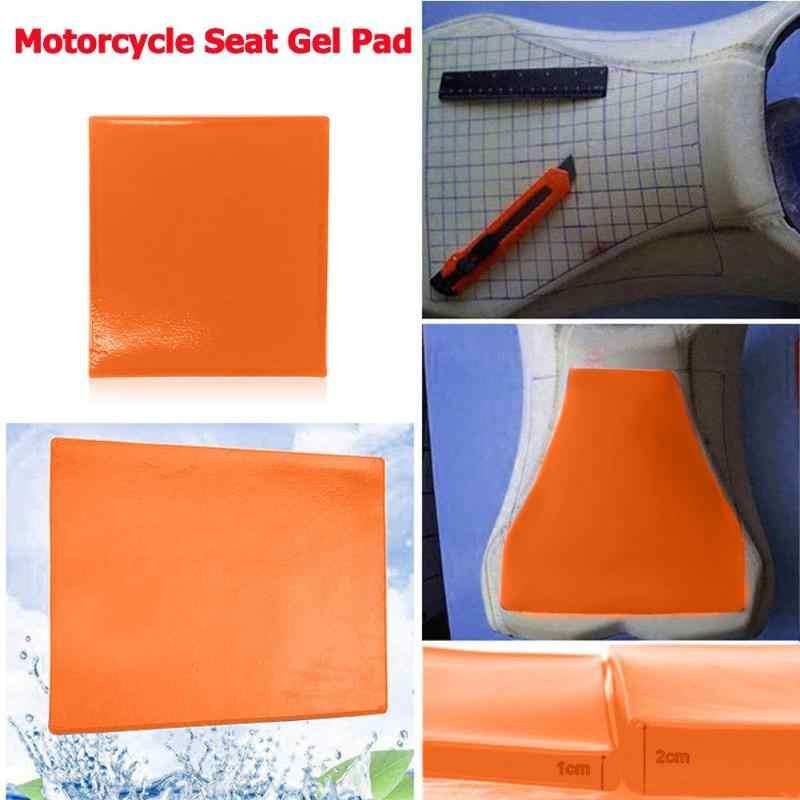 สีส้มที่นั่งรถจักรยานยนต์ดัดแปลงสบายเบาะเจล Pad รถจักรยานยนต์สกู๊ตเตอร์ Shock Absorption Mat Cushion จัดแต่งทรงผมใหม่