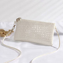 2019 Hot Women's fashion shoulder bag personality white crocodile trend crossbody bag(China)