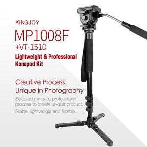 Image 3 - Kingjoy Mp1008F Set monopode professionnel Set Dslr pour tous les modèles appareil photo trépied support Para Movil Flexible Tripe Stativ Slr Dslr