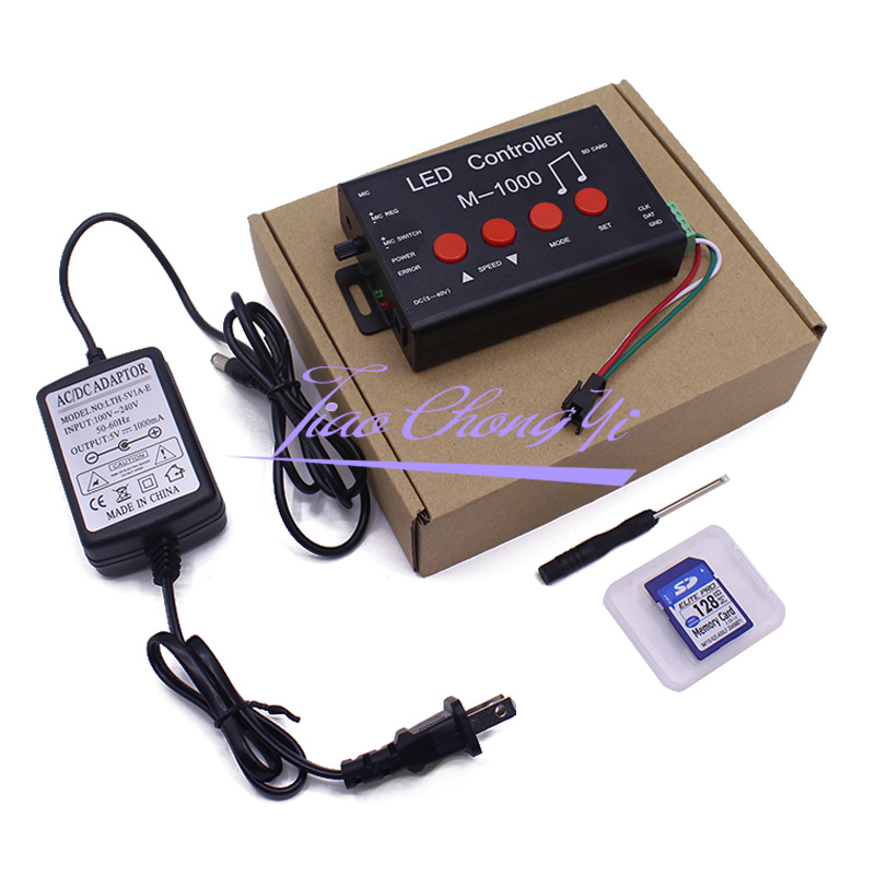 M-1000 LED de contrôle, LED Programmable Contrôleur De Musique 2048 Pixel pour WS2812B WS2811 WS2801 SK6812 bande lumineuse LED