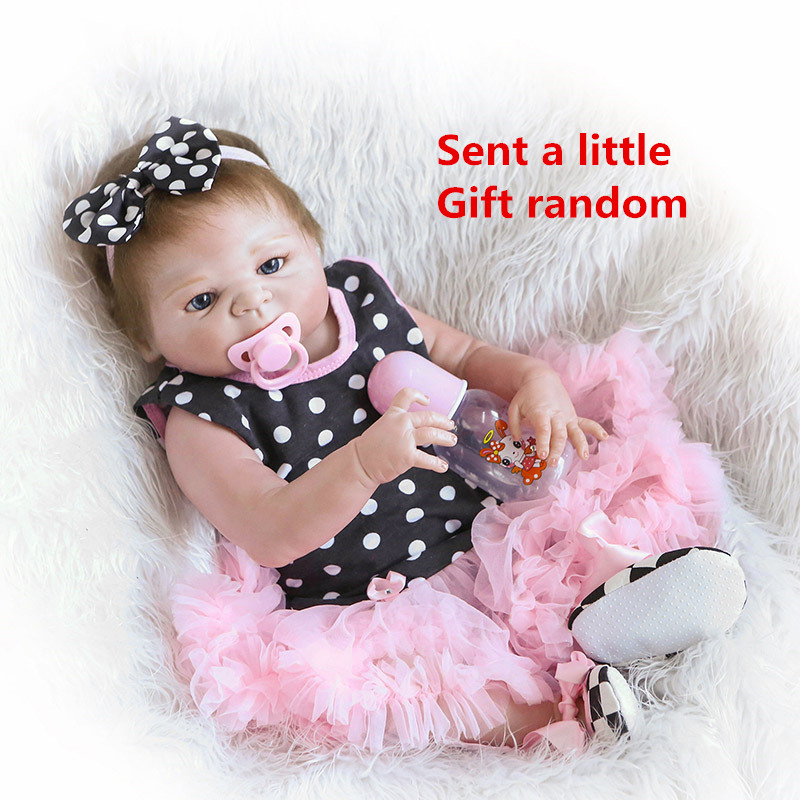 57cm NPK Bebe Reborn Baby Doll Whole Silicone Dolls Soft Simulate real Baby Girl With Black Spot Toys For Children #ED57cm NPK Bebe Reborn Baby Doll Whole Silicone Dolls Soft Simulate real Baby Girl With Black Spot Toys For Children #ED