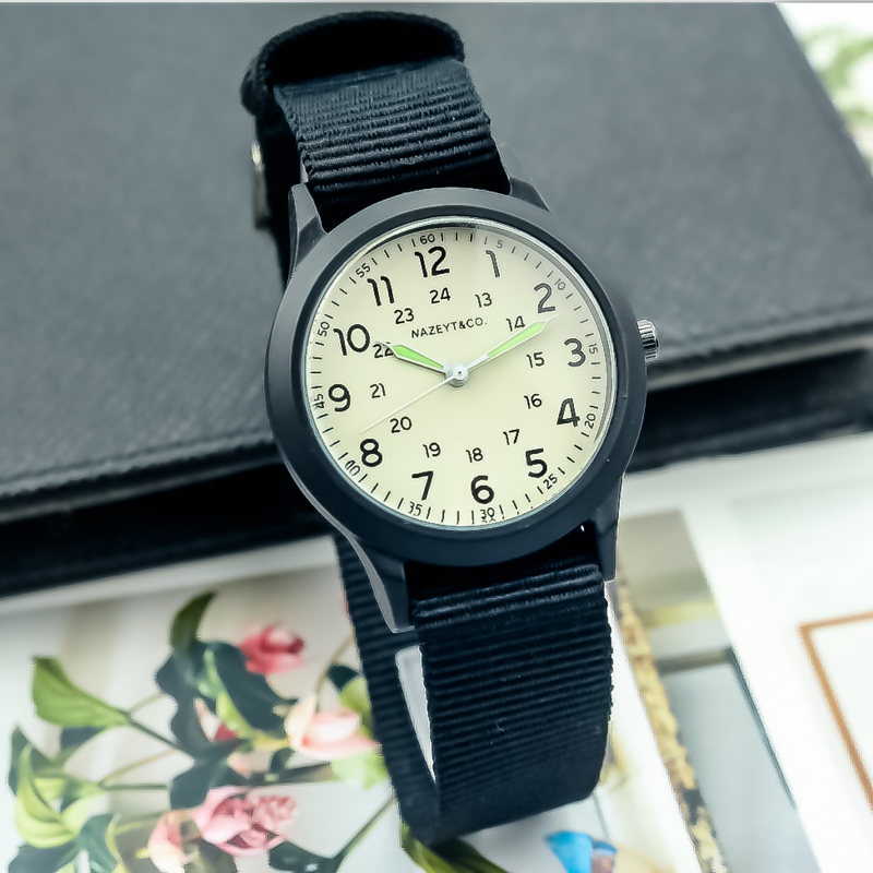 2019Nazeyt Brand Middle Stuedent Sports Watch Luminous Hands Boys Girls Children Nylon Strap Gift Watch Unisex Simple Dial Clock