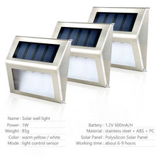 10 Pieces LED Solar Step Light Powered Stair Lights Lighting Steps Paths IP65 Waterproof Garden Wall Porch Outdoor
