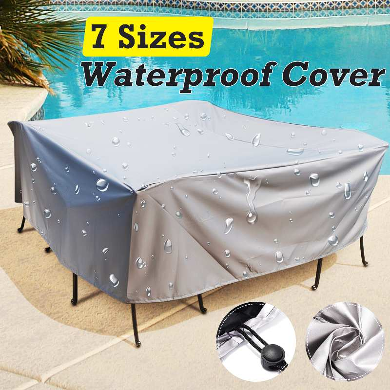 Outdoor Furniture Cover Waterproof Garden Patio Table Chiar Covers Wicker Sofa Set Protection Rain Snow Dust Proof Cover(China)
