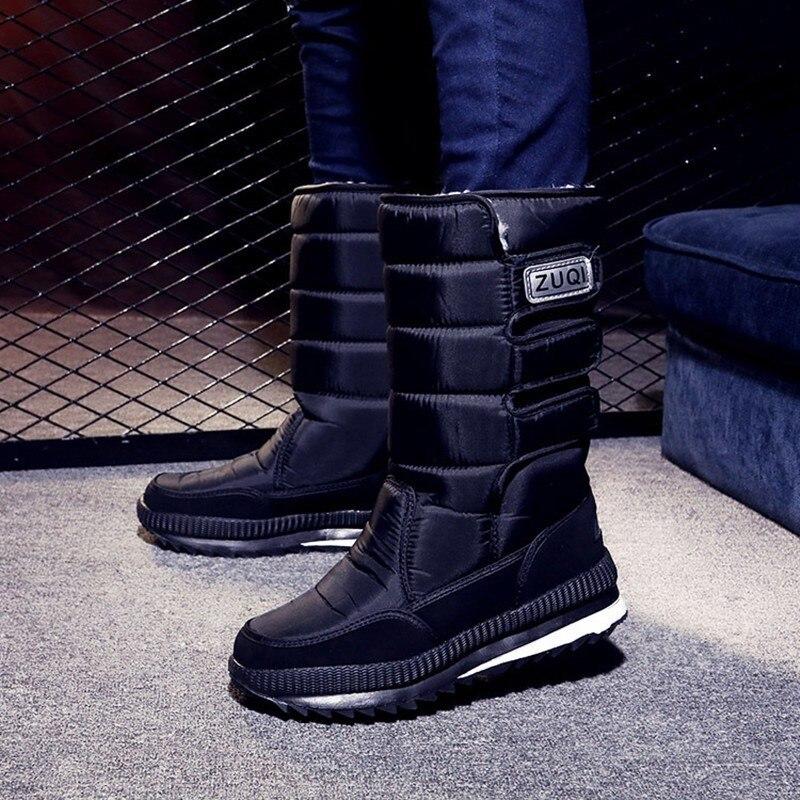 Men Womens Winter Thermal Fishing Snow Boots Outdoor Climbing Camping Hiking Skiing Waterproof Warm Fleece High Shoes Big Size|Hiking Shoes| |  - title=