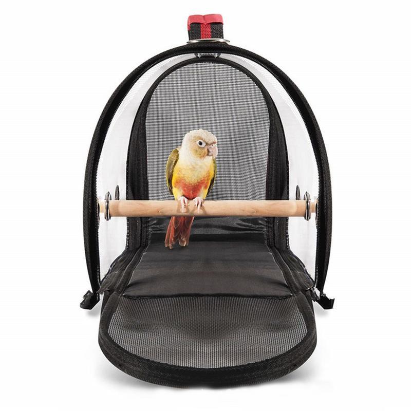 Модная дорожная клетка для птиц из ПВХ, прозрачная дышащая сумка для попугая, сумка для переноски птиц на открытом воздухе