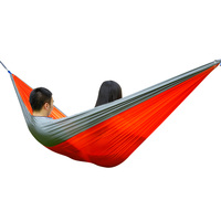 3 x 2M Outdoor 2 Person Assorted Color Portable Parachute Nylon Fabric Hammock Super Soft and Comfortable Hammocks for Home