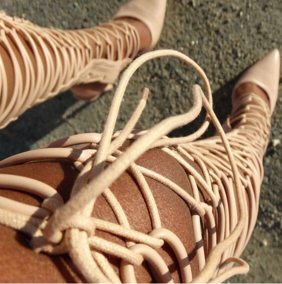 Dipsloot Hot Selling 2019 Women Pointed Toe Cut-outs Gladiator Sandals Boots Ladies Pointed Toe Lace-up Over-the-knee BootsDipsloot Hot Selling 2019 Women Pointed Toe Cut-outs Gladiator Sandals Boots Ladies Pointed Toe Lace-up Over-the-knee Boots
