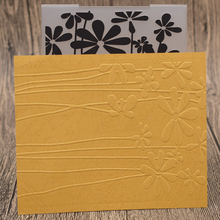 Morning Glory Flowers Plastic Embossing Folder Template For Scrapbooking Photo Album Paper Card Background Decoration