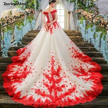 d8493f2e39573 Buy red black white wedding dresses and get free shipping on ...