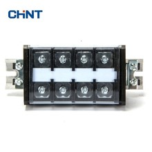 CHINT Terminal Block Rail Type Connection Wire Connector 60A 4 Position Row Plate TD-60/4