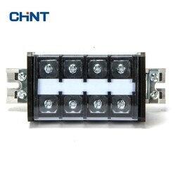 CHINT blok zacisków typ szyny połączenia terminala złącze przewodu 60A 4 pozycja połączenia rząd rzędu zacisków płyta TD-60/4