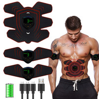 ABS Stimulator Muscle Toner Abdominal Toning Belt Muscle EMS Trainer Home Gym Equipment 6 Modes & 9 Levels Of Intensity Optional
