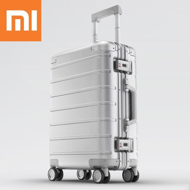 Xiaomi 90FUN 20 pouces bagages de voyage 31L TSA serrure en alliage d'aluminium Durable grande capacité Spinner valise à roulettes continuer la valise