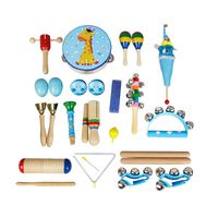 22pce/set Orff Musical Instruments Set Children Early Childhood Music Percussion Toy Combination Kindergarten Teaching Aids