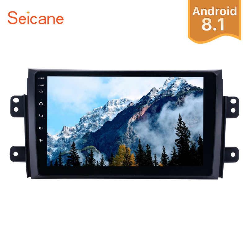 """Seicane 1 + 16G araba radyo 2006 2007-2012 Suzuki SX4 Android 8.1 9 """"2Din dokunmatik ekran GPS multimedya oynatıcı desteği ayna bağlantı"""