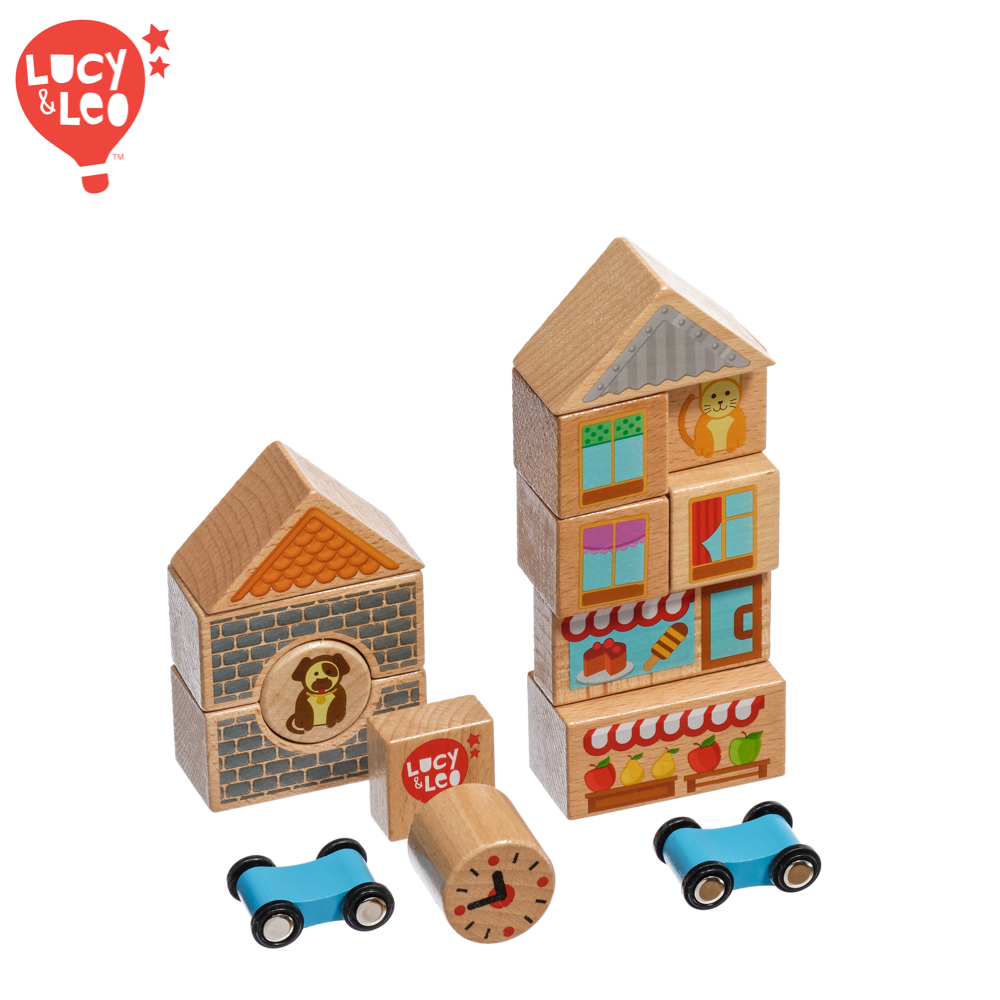 Wooden Blocks Lucy&Leo LL166 childrens educational toy wooden blocks lucy