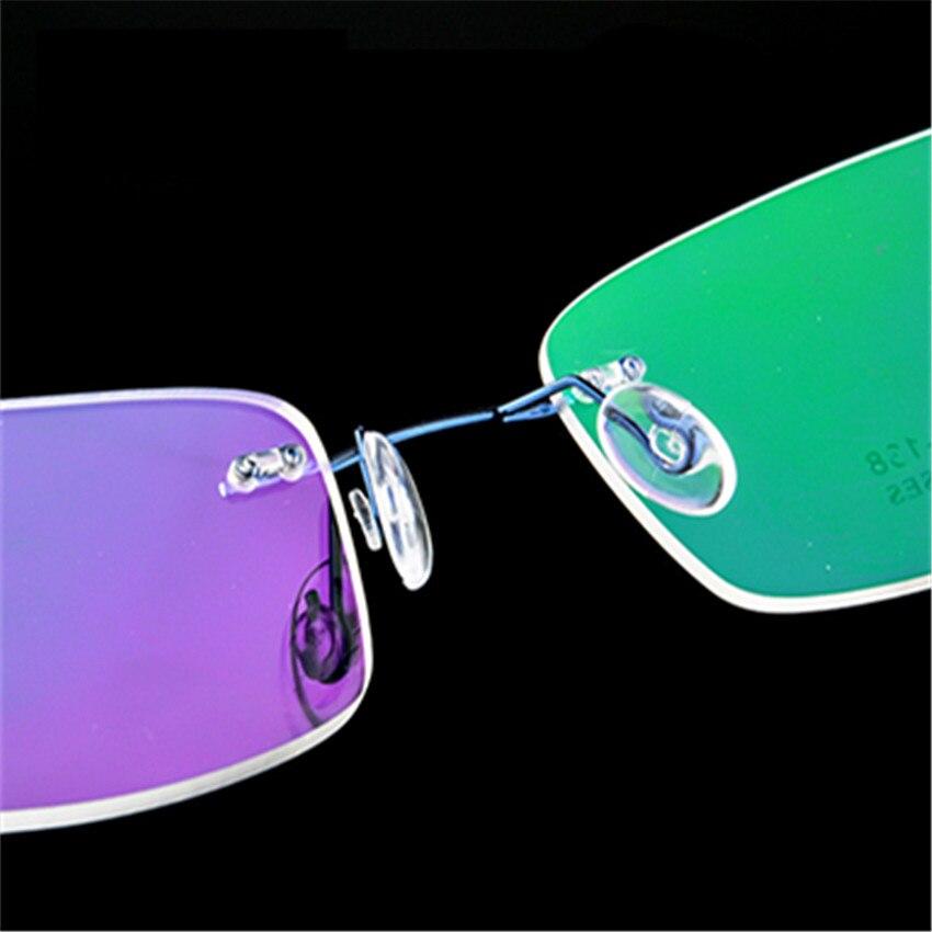 46acfd8781 Rimless Titanium Glasses Frames Men Flexible Optical Frame retro Glasses  Prescription Spectacle Frameless Women Eye glasses -in Eyewear Frames from  Apparel ...