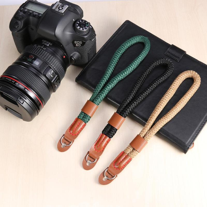ALLOYSEED Camera Strap Wrist Band 1Pcs Hand Nylon Rope Camera Wrist Strap Wrist Band Lanyard For Leica Digital SLR Camera Belt image