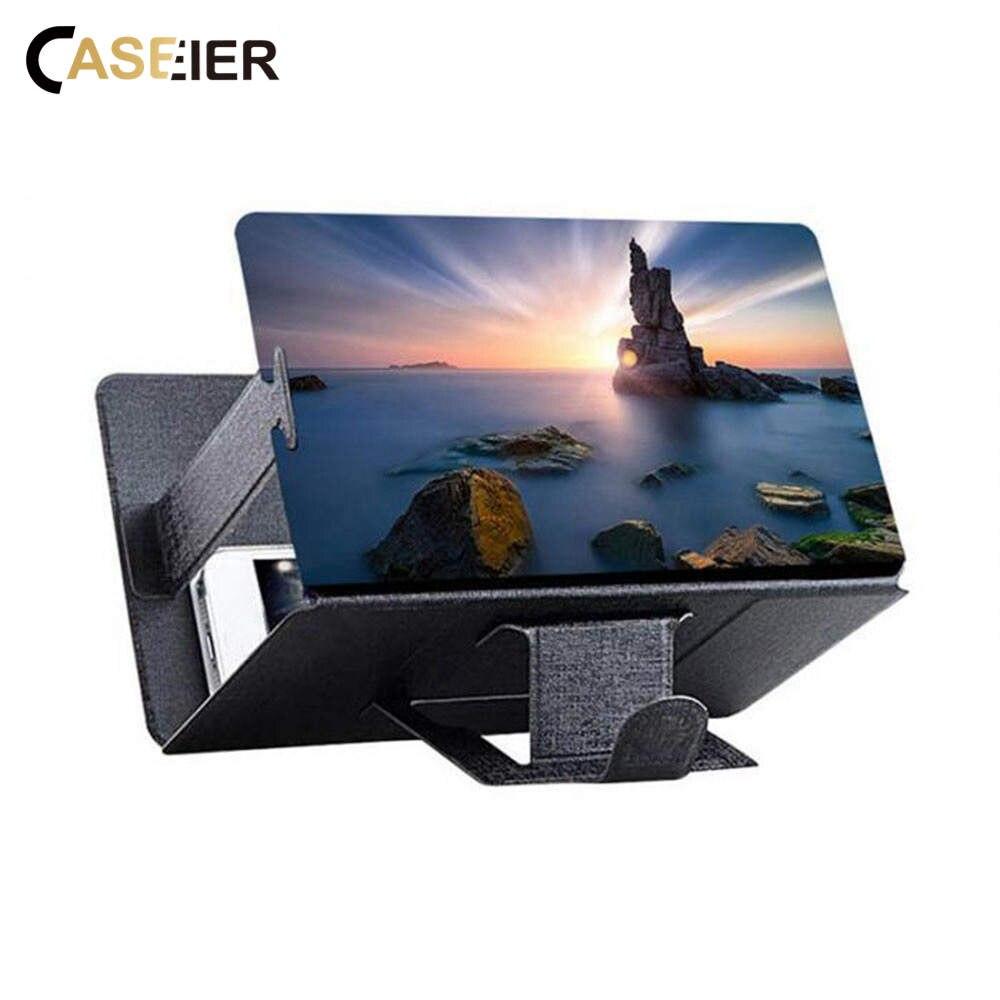 CASEIER Phone Table Lazy Holder Phone Screen Amplifier For IPhone XR 7 8 Desk Phone Holder Screen Amplifier For Samsung S10 S10E