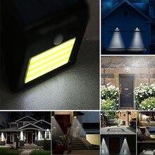 1 шт бра светодиодный солнечный светильник Перезаряжаемые движения PIR датчик для ограды IP65 Водонепроницаемый сад стены крыльцо Открытый безопасности ночного света