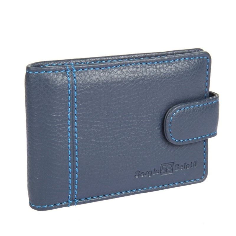 Business Card Holder Sergio Belotti 2929 indigo jeans large capacity card holder multifunctional wallet