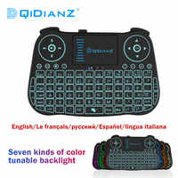 MT08 keyboard Wireless MINI Keyboard USB Air Mouse backlit Touchpad For Smart Android TV Box Play Game pc Lithium Battery