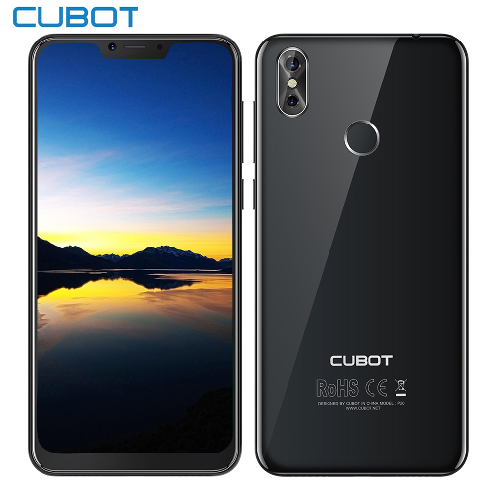 2018 CUBOT P20 4g Phablet 6.18 pouce Android 8.0 MTK6750T Octa Core 4 gb RAM 64 gb ROM Smartphone 2246*1080 20MP + 2.0MP Téléphones