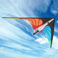 180x80cm Outdoor Fun Sports Dual Line Stunt Kite / Power Kites Good Flying with D Shape Handles 30 Meters Lines